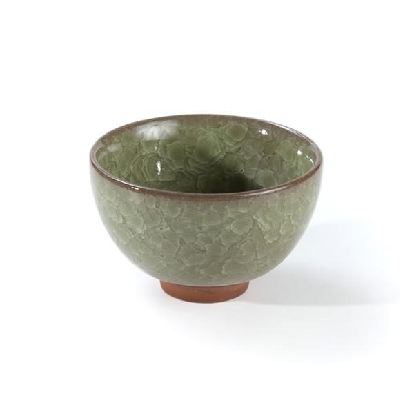 CRACKLE GLAZE WIDE CUP